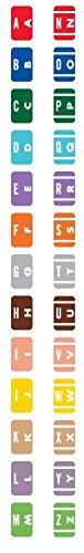 United Ad Label Starter Kit Alpha File Folder Label - Smead ACC Compatible Series, 1'' x 1-5/8'', Assorted - 6500 Label Per Roll