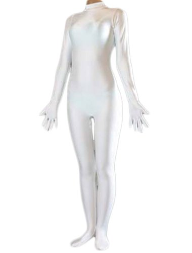 UPC 519045203258, Black Lycra Spandex Zentai Fullbody Catsuit Without Hood (Large, White)