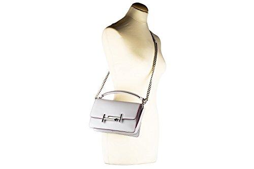 Tod's sac à l'épaule femme en cuir double t gris