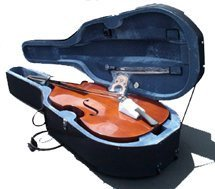 Crystalcello MB150 3/4 Size String Bass + Lightweight Case + Carrying Bag + Bow by Crystalcello