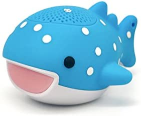 Rittle Whale Shark Cute Mini Bluetooth Animal Wireless Speaker – 3W Audio Driver Powerful Sound – with Sling for iPhone iPad Android and More