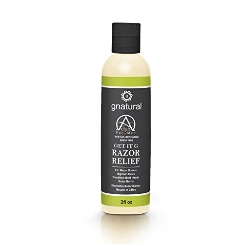 Gnatural Alpha Club 4 Men Get-It-G Razor Burn Relief Shaving Gel for Men - Eliminates Razor Bumps, Smoothes Skin & Remove Dark Shaving Shadow - Skin Healing Properties for Soothing Skin