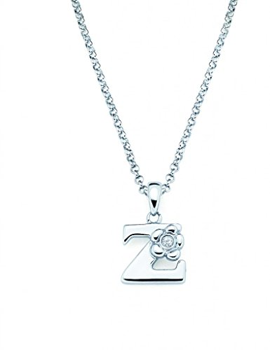 Little Diva Diamonds Sterling Silver Diamond Accent Initial Pendant Necklace - Letter Z Diamond Accent Initial Necklace