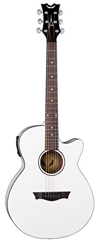 Dean Guitars 6 String Acoustic-Electric Guitar, Right Handed, Classic White (AX PE CWH)