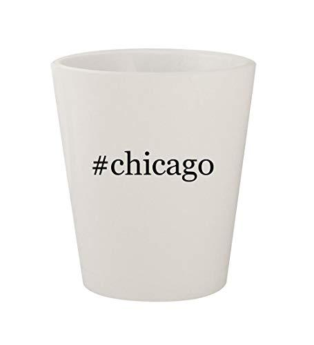 #chicago - Ceramic White Hashtag 1.5oz Shot Glass