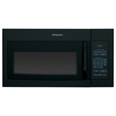 Hotpoint RVM5160DHBB 1.6 cu. ft. Over-The-Range Microwave Oven Black , 16.5'' Height, 29.875'' width, 15.25'' Length by GE