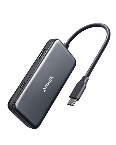 Anker USB C Hub, 3-in-1 Type C Hub, 4K USB C to HDMI Adapter, USB 3.0, with 60W Power Delivery Charging Port for MacBook Pro 2016/2017/2018, iPad Pro 2018, ChromeBook, XPS, and More (Space Grey)