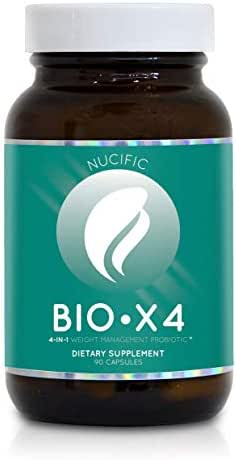 Nucific® BioX4 4-in-1 Weight Management Probiotic Supplement, 90 Count.