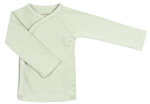 Kushies Unisex-baby Newborn Everyday Layette Long-Sleeve Wrap Tee, Green, 3 Months