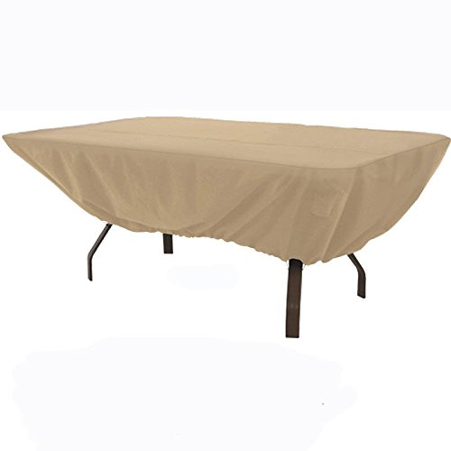 Outdoor Patio Furniture Table Cover Fits Rectangular or Oval Tables to 74
