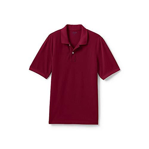 Lands' End Men's Mesh Short Sleeve Polo Shirt, XL, Rich Cardinal