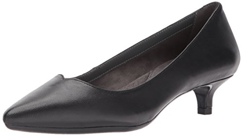 Aerosoles Leather Pumps (Aerosoles Women's Code Dress Pump, Black Leather, 10 M US)