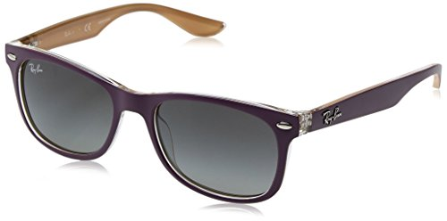 Ray-Ban Kids' Plastic Unisex Square Sunglasses, Top Matte Violet on Orange, 48 - Purple Ray Bans