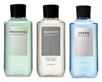 Bath and Body Works 3 Pack 2-in-1 Hair + Body Wash Freshwater, Graphite and Ocean. 10 ()