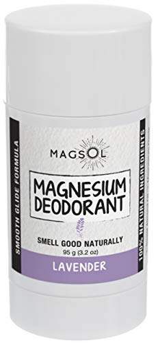 Lavender Natural Deodorant with Magnesium - Aluminum Free, Baking Soda Free, Alcohol Free, Cruelty Free, Healthy, Safe, Non Toxic, All Natural, For Women, Men & Kids - 2.8 oz (Lasts over 4 months) ()