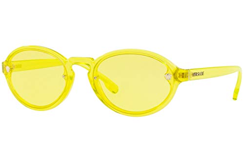 Versace VE4352 Sunglasses Transparent Yellow w/Yellow Lens 54mm 528285 VE ()