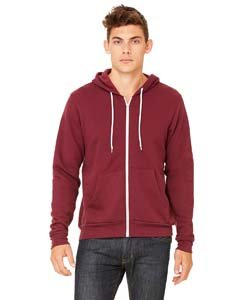 Maroon Hoody Full Zip - Bodek And Rhodes 61531354 3739 Bella Canvas Unisex Poly-Cotton Fleece Full-Zip Hoodie Maroon - Medium