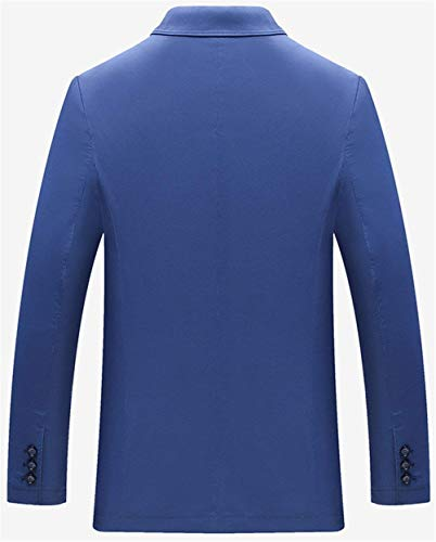 1 Uomo Slim Good Prom Abito Sposa Da Leisure Giacche Giacca Sportiva Men's Fit Hellblau Blazer Chic Button Smoking Business Ntel Suit Mieuid 1npq1d