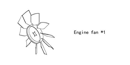 Engine fan 4938888 for diesel engine: