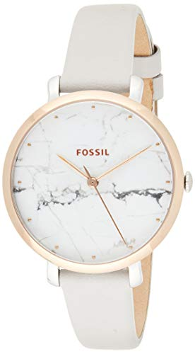 Fossil Damen Analog Quarz Smart Watch Armbanduhr mit Leder Armband ES4377