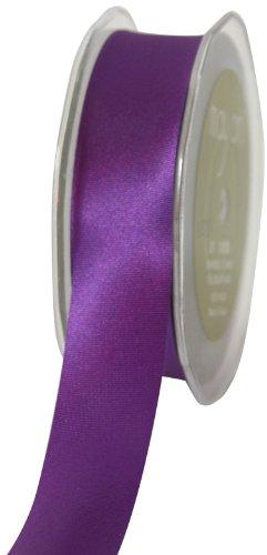 May Arts 1-Inch Wide Ribbon, Violet Satin