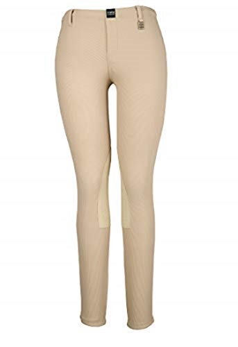 - Devon-Aire Women's All-Pro Pull-On Beige Riding Breeches, X-Large, Beige