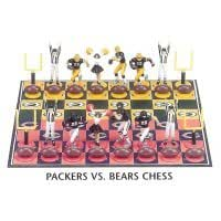 Green Bay Packers Vs. Chicago Bears NFL Football Chess Game