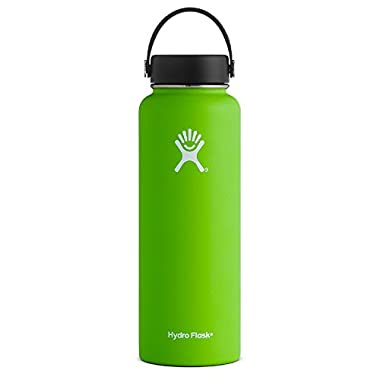 Hydro Flask 40 oz Vacuum Insulated Stainless Steel Water Bottle, Wide Mouth w/Flex Cap, Kiwi