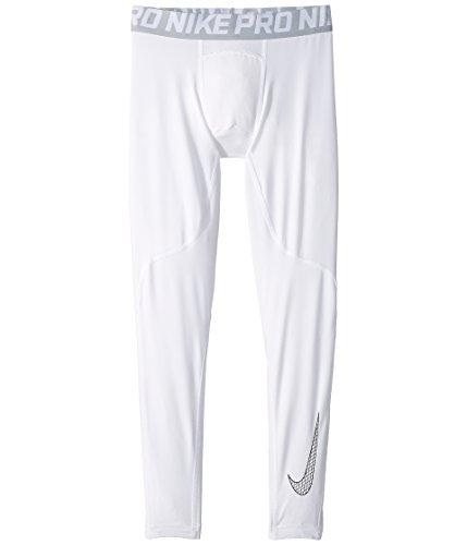 Nike Boy's Pro Tights White/Wolf Grey Size Large