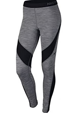Nike Pro Hyperwarm Women's Training Tights Gray Black Gym