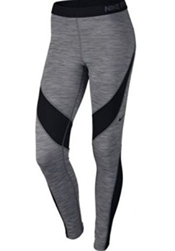 Nike Pro Hyperwarm Women's Training Tights Gray Black Gym 917090 Large