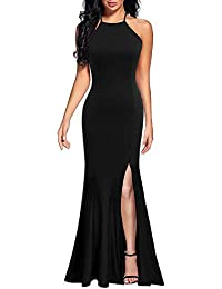 21b06880918 Women s Sexy Spaghetti Straps Slit Formal Long Bridesmaid Maxi Party Evening  Dress Mermaid Prom Gown