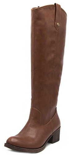 c263d90107f0 London Fog Womens Irie Riding Boot Cognac 8 for sale Delivered anywhere in  USA