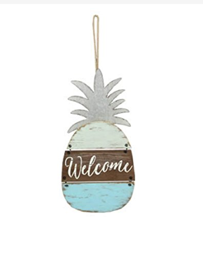 (youngs Inc Pineapple Welcome Wood Sign, Multi)