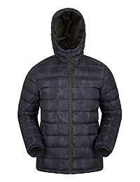 Mountain Warehouse Seasons Printed Mens Jacket - Winter Rain Jacket Camouflage Medium