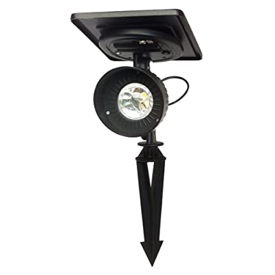 Gama Sonic GS-103 Progressive Garden Landscape Spotlight, Outdoor Solar Powered LED Light on Stake, Black