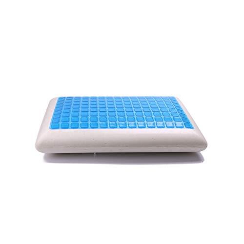 Almohada de gel Tivoli Diseño ergonómico Lento almohada de gel frío Rebote Lento Memoria transpirable Masaje Cuello Alivio...