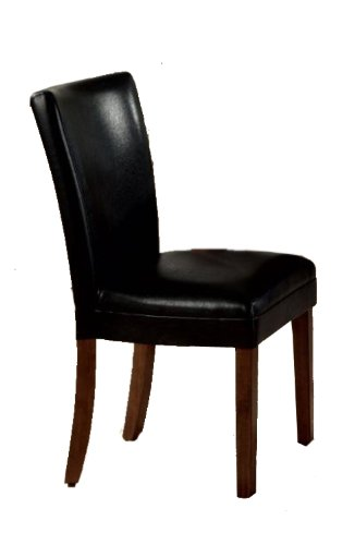 Coaster 4077BLK Black Upholstered Parson Dining Side Chair Set Of Six