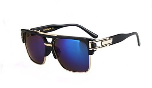 Star Style Sunglasses Retro Polarized Rectangular - Sunglasses Bloc Golf