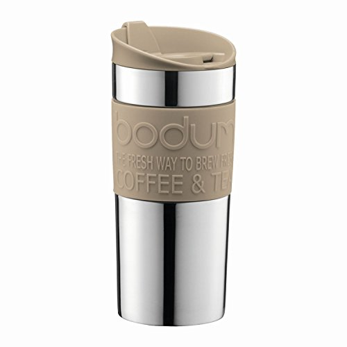 Bodum - Travel mug - Stainless Steel - 0.35 l/12 oz - Sand 133 Bodum Stainless Steel Travel Mug