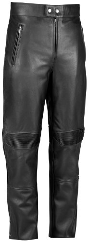 River Road Bravado Leather Overpant , Size: 44, Gender: Mens/Unisex, Primary Color: Black, Apparel Material: Leather, Distinct Name: Black XF09-4870