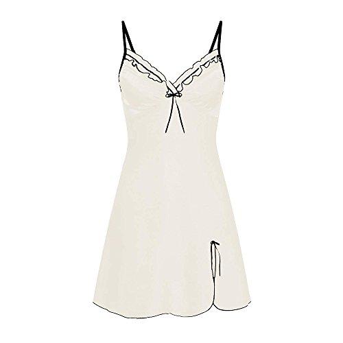 Sheer Net Robe Shirt - St.Dona Dress Womens Women Sexy Lace Lingerie Nightwear Underwear Robe Babydoll Sleepwear Dress