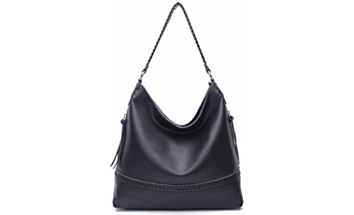 MKF Collection by Mia K. Farrow Elle Vegan Leather Fashion Hobo (Elle Black Bag)