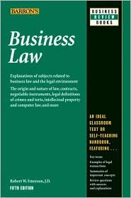 Business Law Publisher: Barron's Educational Series; 5.0 edition