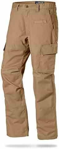 LA Police Gear Mens Urban Ops Tactical Cargo Pants - Elastic WB - YKK Zipper
