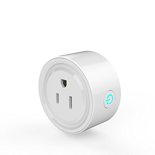 Smart Socket,M.Way Mini Smart Plug Wi-Fi Enabled, Remote Control From Anywhere,Works with Amazon Alexa,Support 2.4GHz Wifi Networks,Voltage 100-240V,Electrical Power Switch for Household Applicances