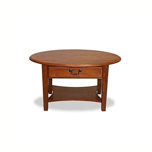 Narrow Natural Oval Shaped (Leick Oval Coffee Table - Medium Oak)