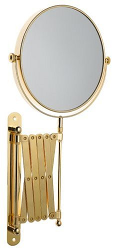 Danielle Creations Extending Wall Mounted Gold Plated Mirror X 6 Magnified 20cm