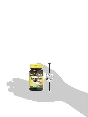 Amazon.com: Mason Vitamins Magnesium 200 mg Tablets,100 Count: Health & Personal Care
