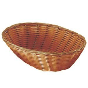 Update International Pack of 2 Woven Bread Baskets, 9-1/2-Inch, Oval, Natural